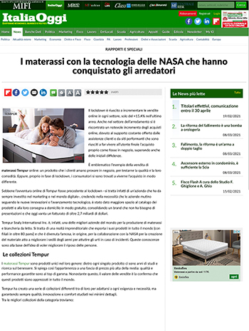 italiaoggi parla di arredare moderno