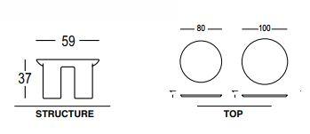 Tavolo Atene Table Plust dimensioni e misure