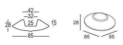 Vaso Trottola Plust 28 dimensioni e misure