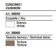 Lettino Gumball Sunlounge Plust colori cuscino