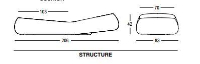 Lettino Gumball Sunlounge Plust dimensioni e misure