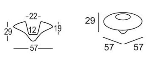 Vaso Ninfea Plust 57 dimensioni e misure