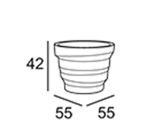 Vaso Rebelot Plust 55 dimensioni e misure