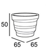 Vaso Rebelot Plust 65 dimensioni e misure