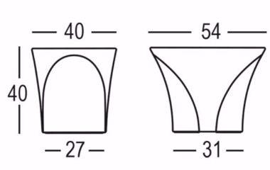 Tavolino Enta Plust dimensioni e misure