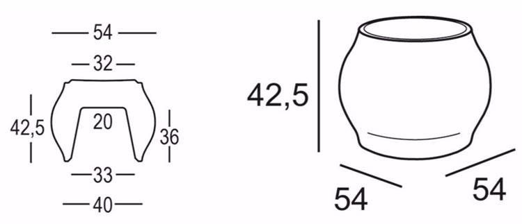 Sgabello Fuzzy Stool Plust dimensioni e misure