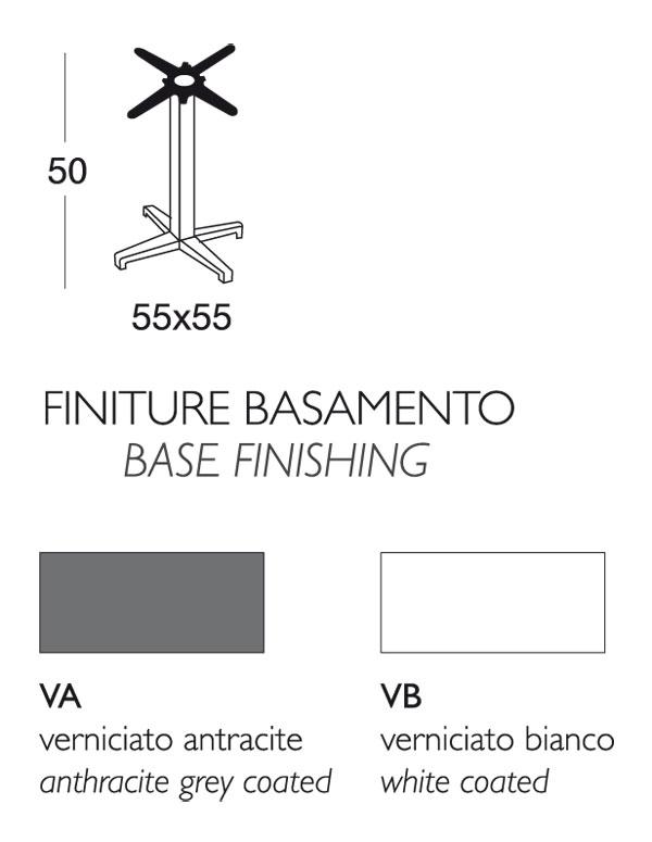 Misure Tavolini Bar.Tavolino Bar Cross Scab Fisso H 50 Con Piano Stratificato Compact
