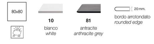scab design tavolino nemo h 75 piano acciaio