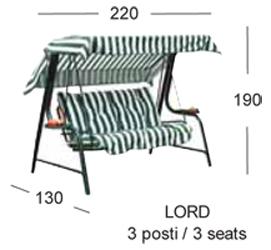 misure lord dondolo scab design 3 posti