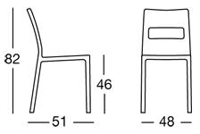 misure scab design sedia sai