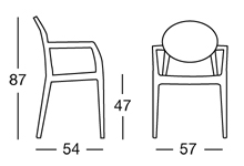 Igloo Chair Scab Design 2355 sizes