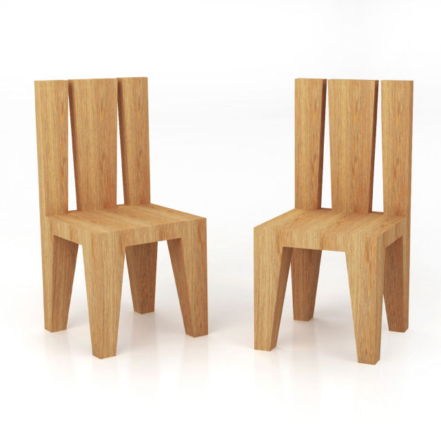 Sedie in legno massicco