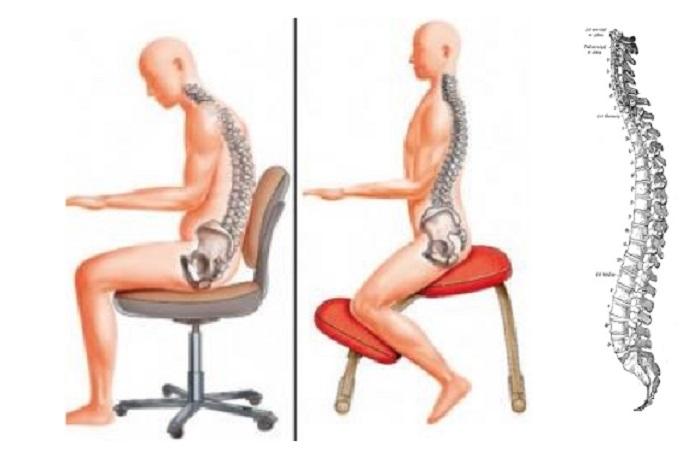 Sedie e mal di schiena