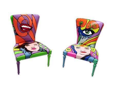 sedie pop art