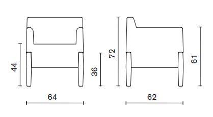 Poltrona Kubrik Serralunga misure
