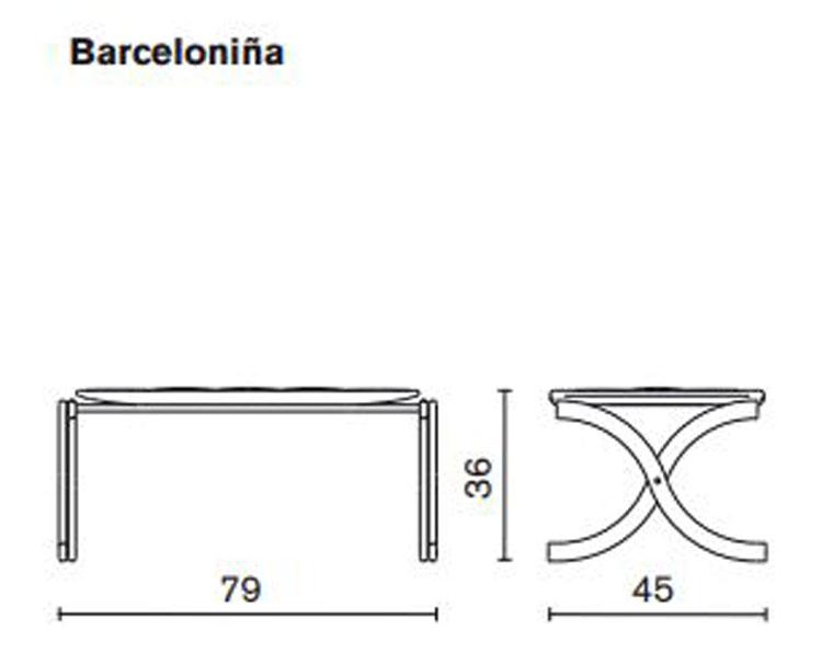 Pouf Barceloniña Serralunga dimensioni e misure