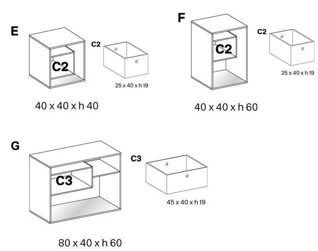 Tavolino Liber Tonelli dimensioni