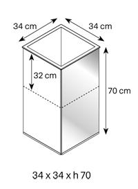 lingo vaso tonelli design misure