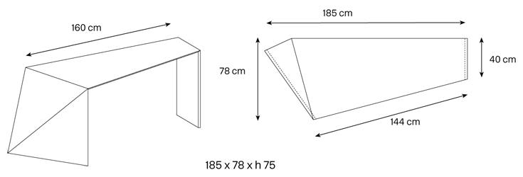 Scrivania Penrose dimensioni