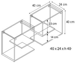 Coppie di mensole tonelli desin modello alfabeta for Misure mensole