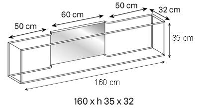 brama mensola tonelli design misure