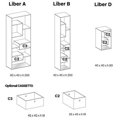 liber libreria tonelli design misure