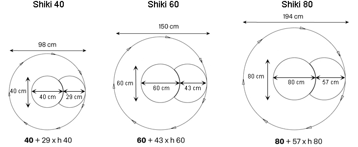 shiki tonelli design specchio modulare misure