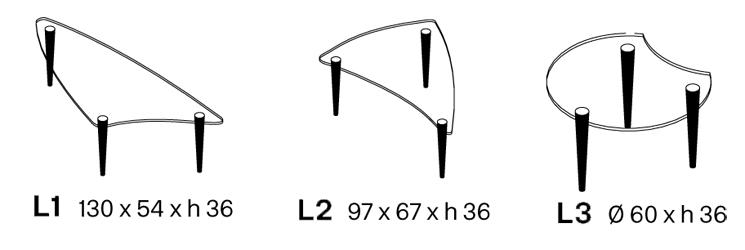 Tavolino Lobacevskij Tonelli dimensioni