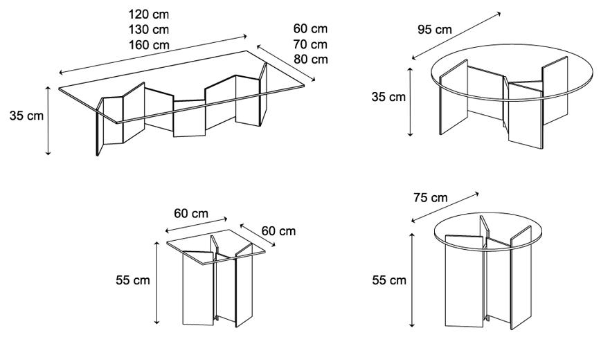 Tavolino Matropolis Tonelli dimensioni