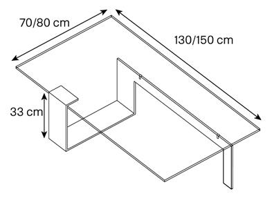 Tavolino Plinsky Tonelli dimensioni