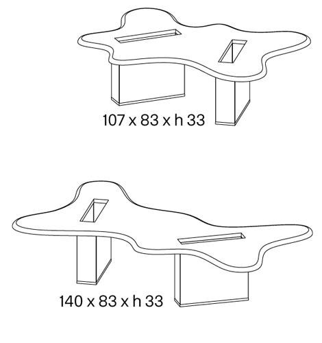 Tavolino splash Tonelli dimensioni