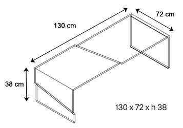 Tavolino strappo tonelli dimensioni