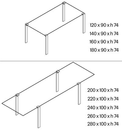 Tavolo Livingstand dimensioni