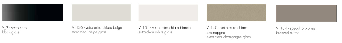cassettiera venice tonin casa finiture top vetro