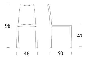 misure sedia madeleine seduta larga