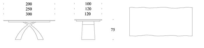 misure piani legno massello tonin casa tokyo fisso