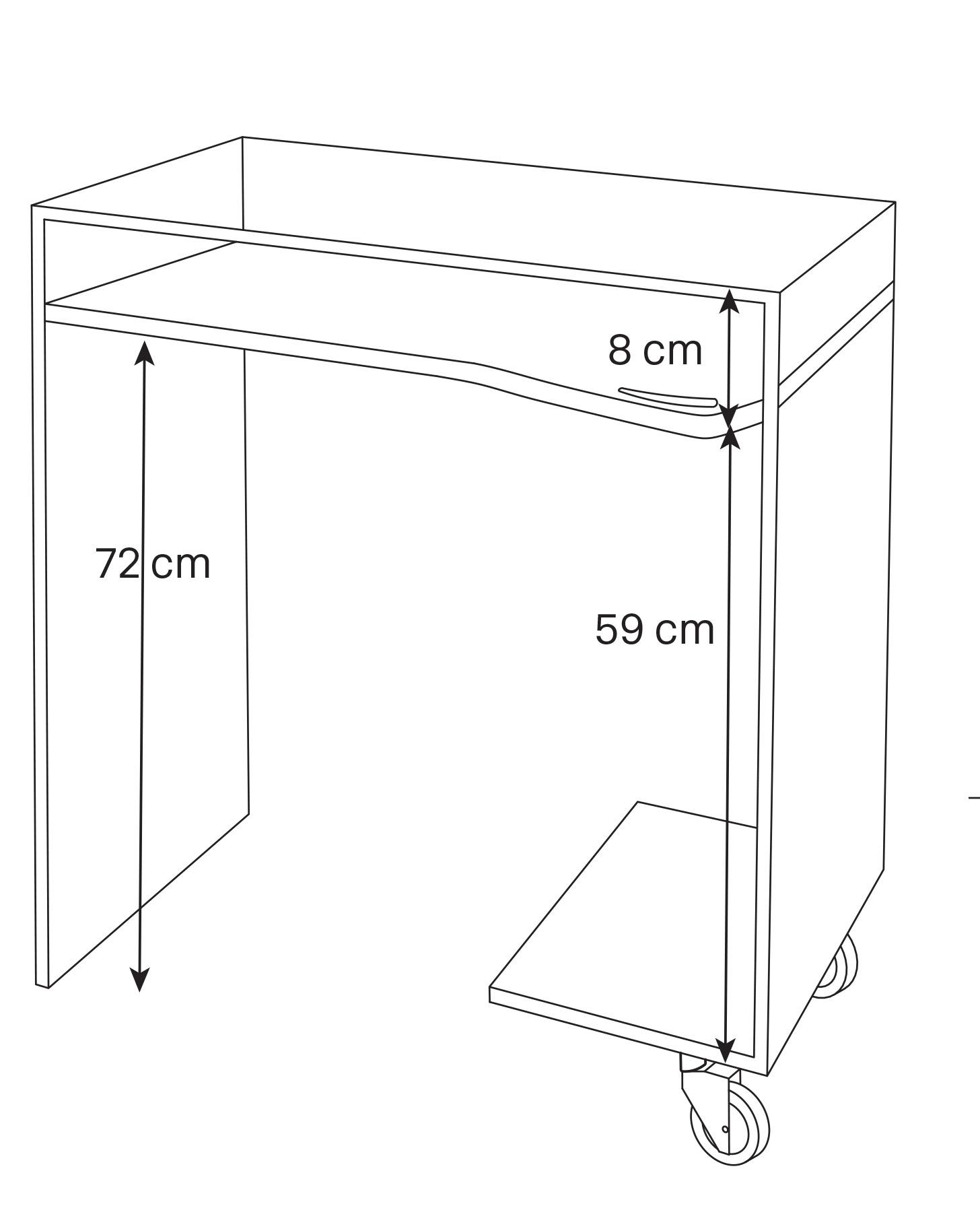 Scrivania Work-box dimensioni